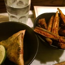 Lamb Samosas and Okra fries