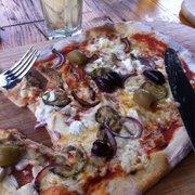Mediterranean pizza!