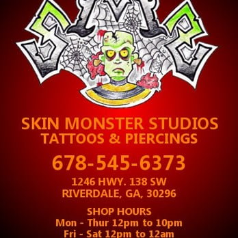 Skin monster studio tattoos and piercings tattoo 1246 for Charlie cu tattoo