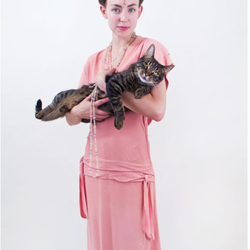 The House of Findings - Pink Crepe Dress - Cambridge, MA, Vereinigte Staaten