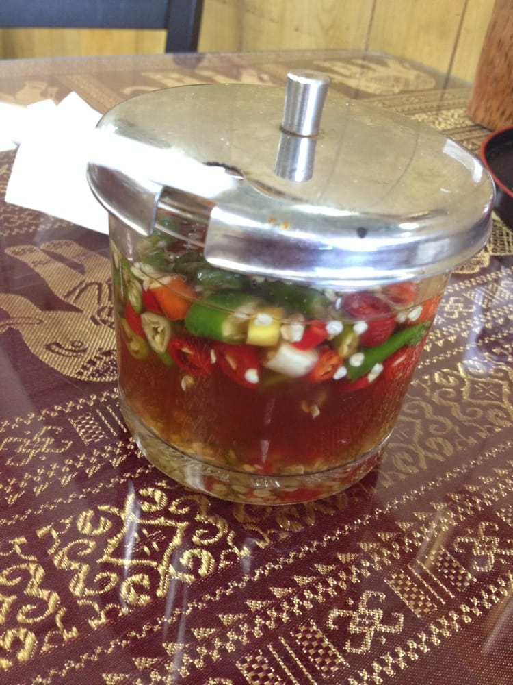 Thai chili pepper infused fish sauce so good spicy for Thai kitchen fish sauce