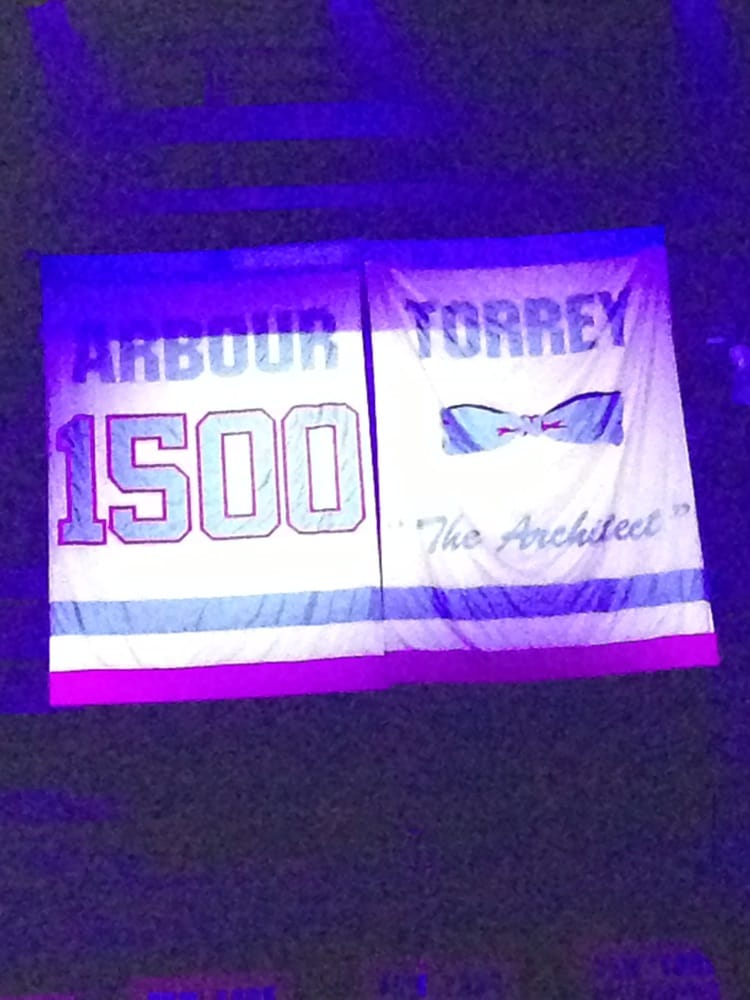Nassau Coliseum - Al Arbour and Bill Torrey banners - Long Island, NY, United States