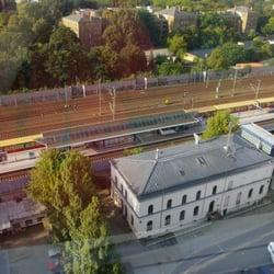 Blick aus dem 13. Stock auf die S-Bahn…
