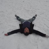 Central Park - Me making snow angels - New York, NY, Vereinigte Staaten