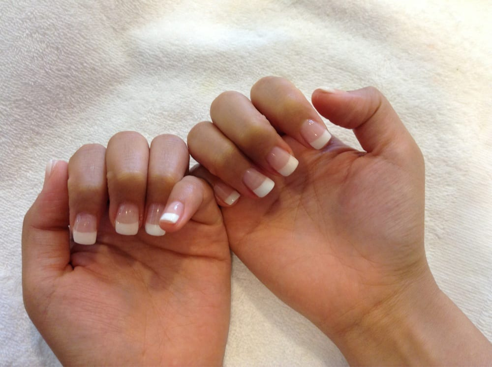 Nail and Spa - fill in Tips with Pink and white uv gel manicure
