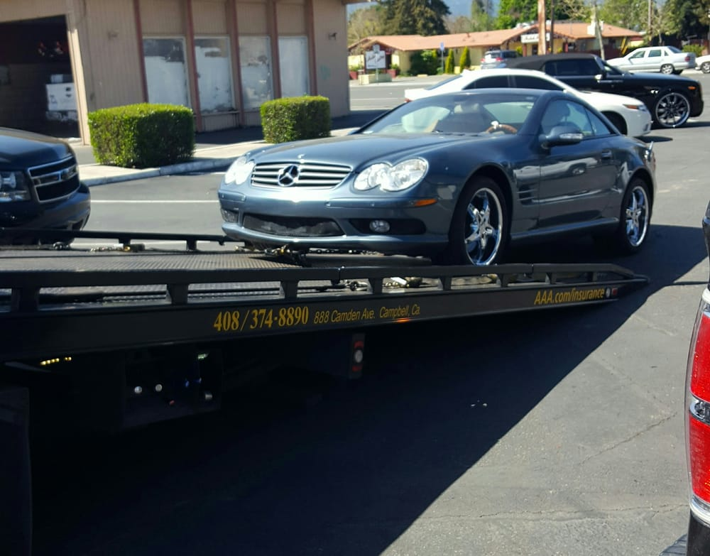 here she is on its way to stevens creek mercedes still