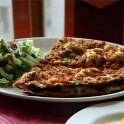 Lahmacun, one of the many must-haves at the Meze Mangal!
