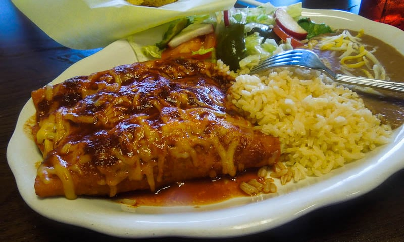 Enchiladas With Rice And Beans Chicken enchiladas with rice