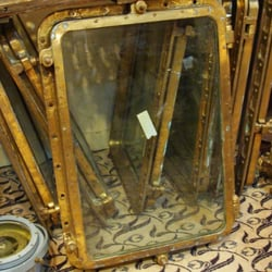Skipjack Nautical Wares & Marine Gallery - A large collection of authentic brass ship's windows, perfect for nautical coffee tables and other interior applications. - Portsmouth, VA, Vereinigte Staaten