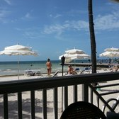 Southernmost Beach Cafe - Key West, FL, États-Unis. Great view of the ocean from our table at Southernmost Beach Café