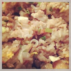 Khao pad poulet !
