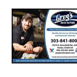 Greg's Auto Repair logo