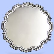Large Sterling Silver Salver, 1951 Walker & Hall