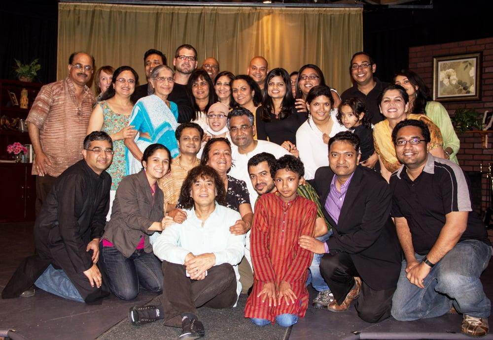 Tabla maestro Ustad Zakir Hussain after the performance of DEATH ...