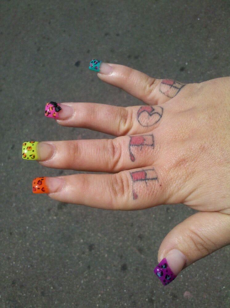 Colorful Rainbow Cheetah Nails