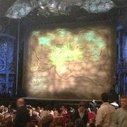 The opening backdrop before Wicked…