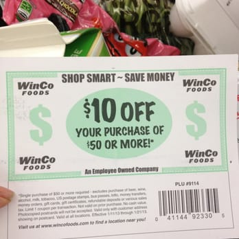 Does winco take coupons