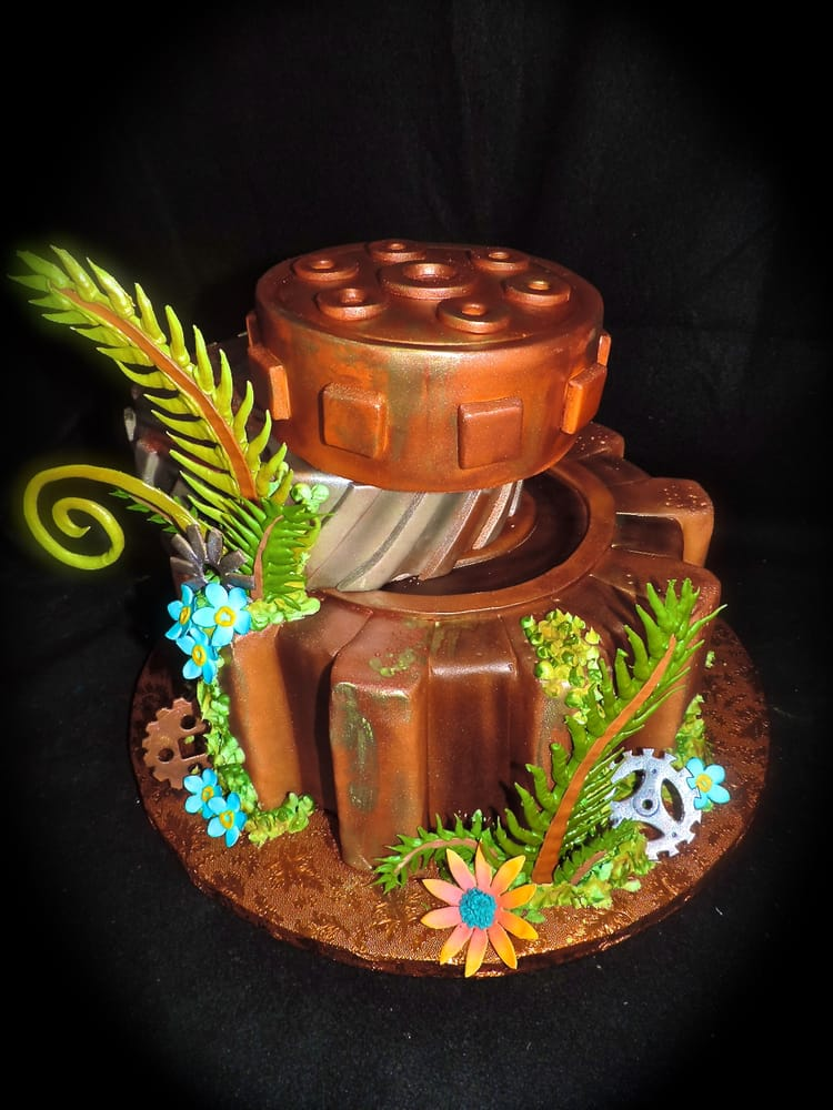 Cake Designs Redding Ca : Steampunk Inspired Wedding Cake by Sublime Cake Design Yelp