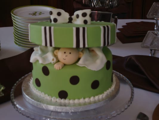 sue anns bakery baby in a gift box baby shower cake indialantic