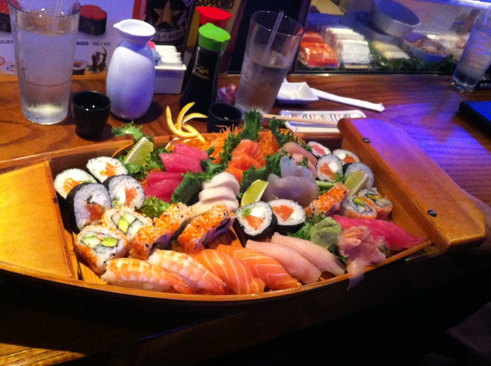 "Beautiful presentation of Sushi ""Boat"" for 2. 