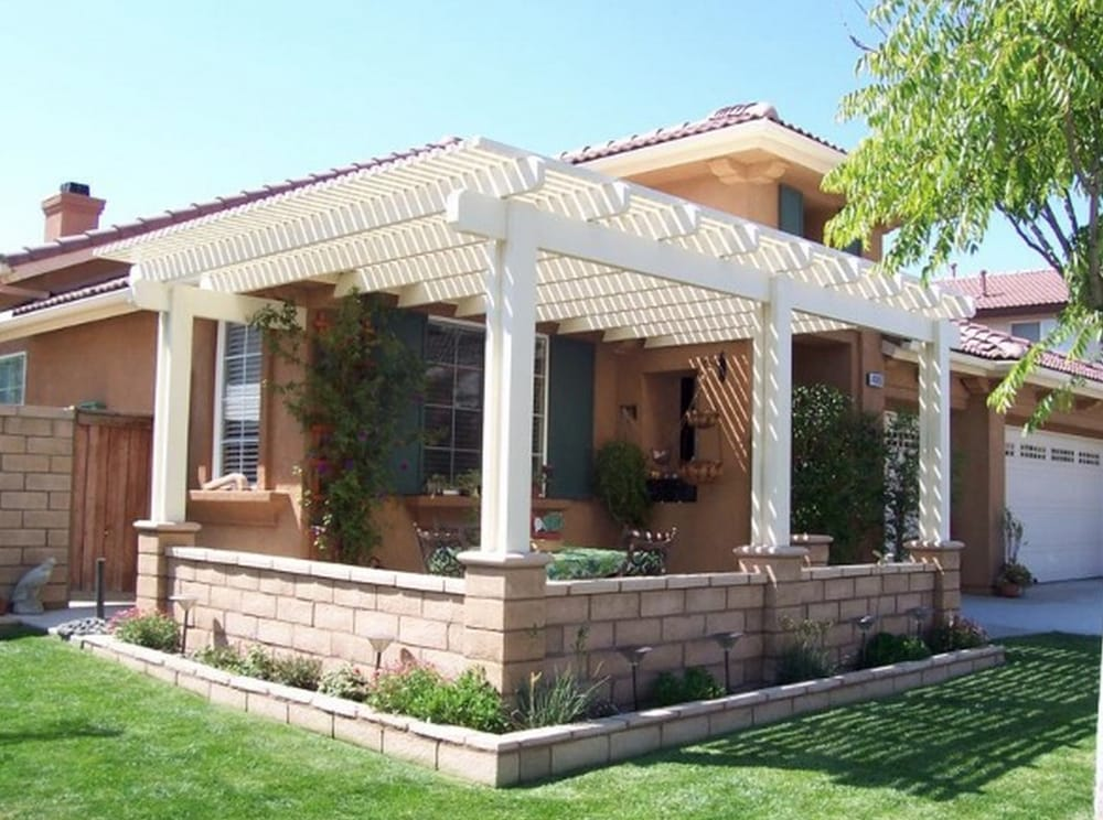Lattice Style Patio Cover In Front Yard Yelp