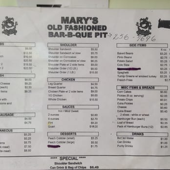 Marys Old Fashioned Pit Barbeque Nashville Tn