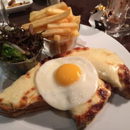 Croquet Madame with a Fried Egg, salad & fries. The best I've ever had in the world let alone France.