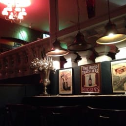 The dark but fun pub interior