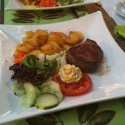 Ein leckeres Steak zum Mittagessen..