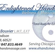 Enlightened Hands Wellness & Massage - Business card - Hinsdale, IL, Vereinigte Staaten