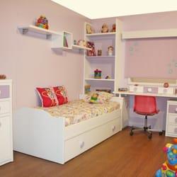 Dormitorio juvenil lacado blanco con…