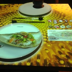 My interactive table. Touch automated orders. It even beams the picture of the food on the plate and info on the side
