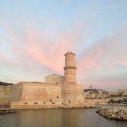 MuCEM - Marseille, France. Vue sur le Fort Saint Jean, 18 août 2015