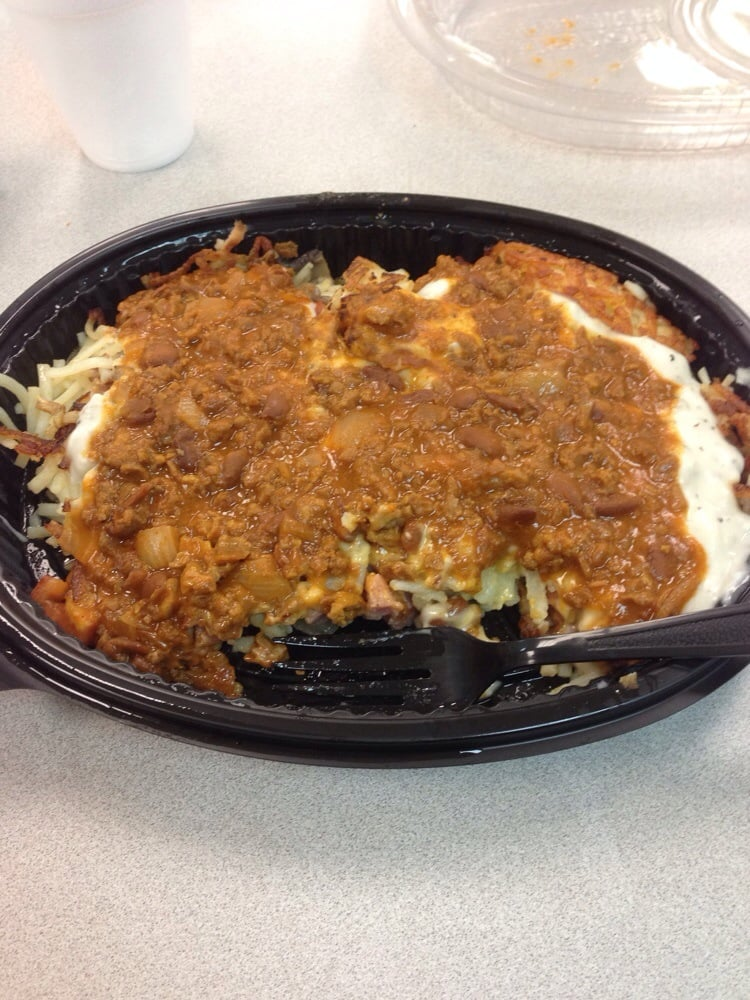 Waffle House Hash Browns All The Way Waffle House Triple Hash Brown All The Way With Gravy And Chili Houston