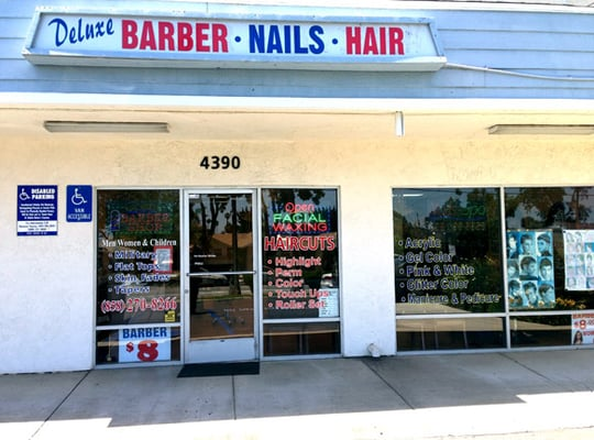 Deluxe barber and tanning salon clairemont san diego for 7 image salon san diego