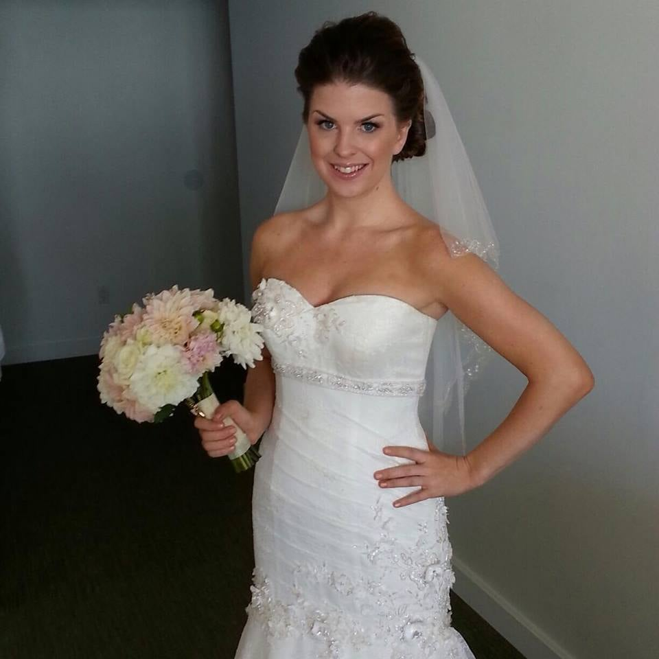 My dress on our wedding day after celia altered it to for Wedding dress tailor near me