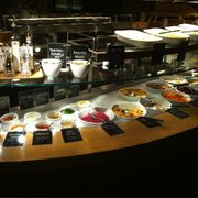 The amazing buffet. Each item is marked vegan, gluten, etc.