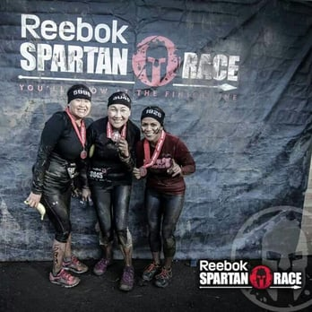 Spartan Race - Malibu, CA, États-Unis. It was too cold to stand up straight!!