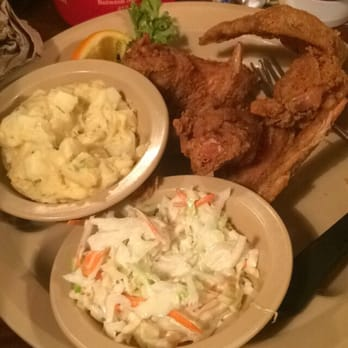 ... States. Chicken wings, 2 sides: cole slaw, and potato salad. Yummy