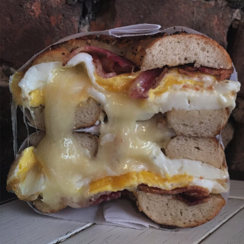 Black Seed - New York, NY, United States. #12 (Bacon, Egg & Cheese on an Everything Bagel)