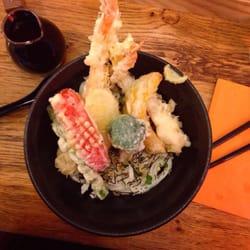 Udon tempura crevettes et légumes