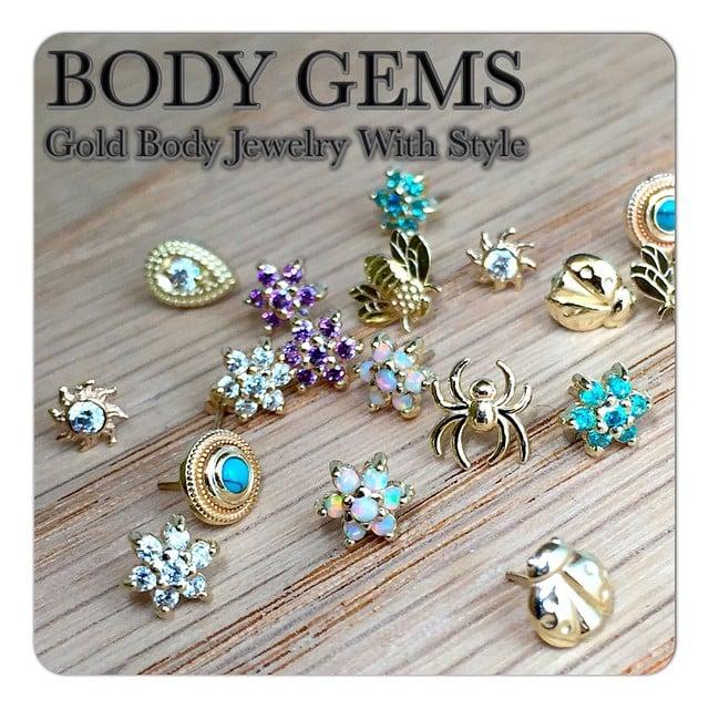 Gold Body Jewelry Body Gems 14kt Gold Body
