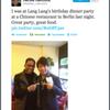 Herbie Hancocks tweetet über Lang Langs Geburtstagsfeier in der Peking Ente Berlin :)