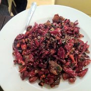 Sichuan style chicken with chillis