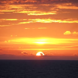 Sonnenuntergang im Ostseecamp