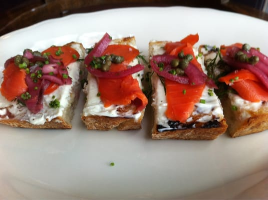 Smoked salmon bruschetta | Yelp