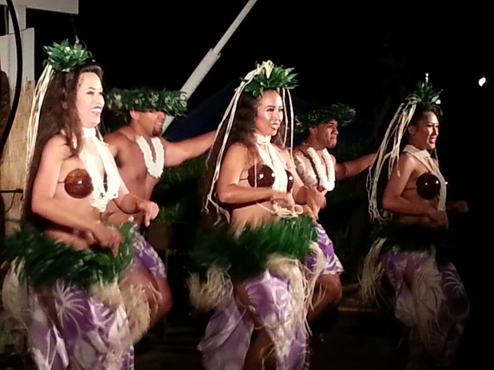 Dancers at a Luau