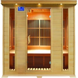 4 person infrared sauna hemlock wood