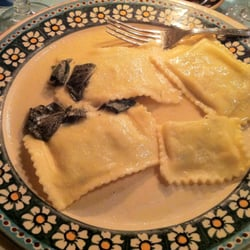 Ravioli with sage and brown butter