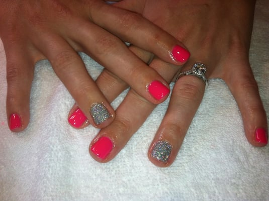 Sarah Mills Nails - Hot pink gel manicure - Carlsbad, CA, United ...